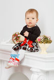 Little baby in the interior Royalty Free Stock Photo