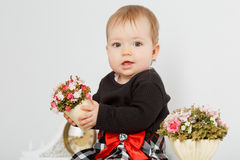Little baby in the interior Stock Photography