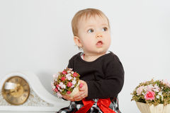 Little baby in the interior Royalty Free Stock Images