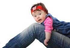 Little baby on isolated background Stock Photos