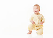 Little baby isolated on a white Stock Photos