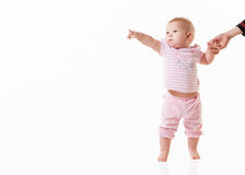 Little baby isolated on a white Royalty Free Stock Photography