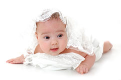 Little baby isolated on white background Royalty Free Stock Photo