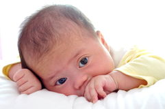 Little baby just awaking Royalty Free Stock Images