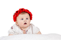 Little baby look out Stock Images