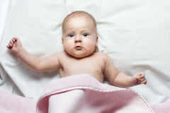 Little baby lying Stock Photo