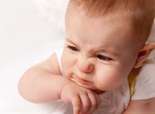 Little baby make funny faces Royalty Free Stock Photos
