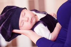 Little baby in mothers arms Royalty Free Stock Photography