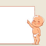 Little baby near banner Stock Photo