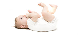 Little Baby On A White Background Royalty Free Stock Image