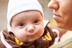 Little baby outdoors. Stock Photography