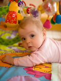 Little baby play. In developmental toy Royalty Free Stock Photos