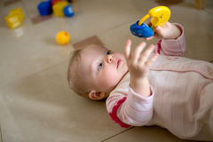 Little Baby Play Stock Image