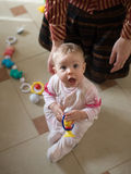 Little baby play. With toys Royalty Free Stock Photos