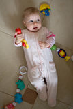 Little baby play. With toys Stock Image