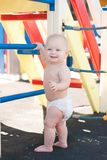 Little baby play on playground Stock Photos