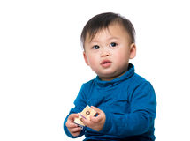 Little baby play toy block Stock Photography