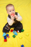 Little baby playing toys Royalty Free Stock Photography