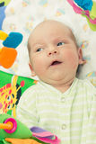 Little baby playing. With toys at home Royalty Free Stock Photo