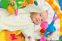 Little baby playing. With toys at home Stock Photography