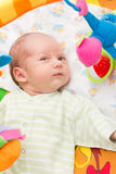 Little baby playing. With toys at home Royalty Free Stock Photography
