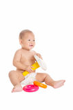 Little baby playing toys 4 Royalty Free Stock Images