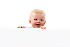 Little baby pry Royalty Free Stock Images
