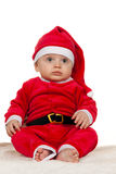 Little Baby with Santa Claus Stock Photo