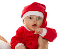 Little Baby with Santa Claus Stock Images
