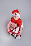 Little baby santa claus Royalty Free Stock Image