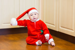 Little baby Santa Stock Images