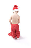 Little baby in santa suit Stock Image