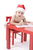 Little baby in santa suit Royalty Free Stock Photography