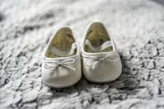 Little baby shoes. Royalty Free Stock Photos