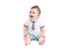 Little baby sitting Stock Images