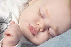 Little baby sleeping Stock Images