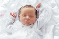 Little Baby Sleeping Stock Photo