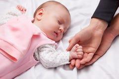 Little baby is sleeping Stock Photography