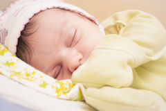 Little baby sleeping quietly Stock Images