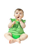 Little baby with spoon Royalty Free Stock Photography