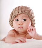Little baby surprise look Royalty Free Stock Photo