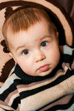 Little baby is surprised Royalty Free Stock Image