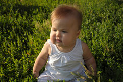 Little baby with sweet fat cheeks Stock Images