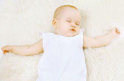 Little baby sweet sleep Royalty Free Stock Image
