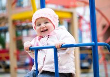 Little baby in a swing Stock Photo