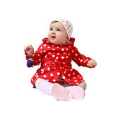 Little baby with toy Stock Photography