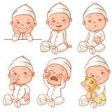 Little baby wearing pajama Stock Photos