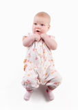 Little baby on a white background Stock Photo