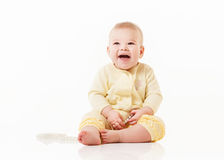 Little baby  on a white Royalty Free Stock Photography