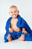 Little baby wrapped bright towel Royalty Free Stock Image